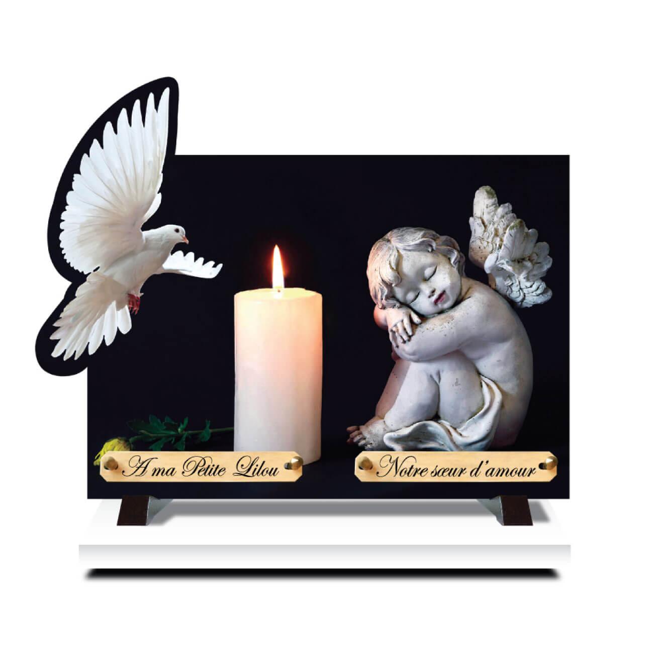 La plaque funéraire ange est un choix populaire de nos jours
